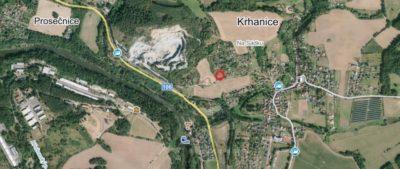 Zasíťovaná stavební parcela s malou chatou, 18 km od P.obchvatu, Krhanice
